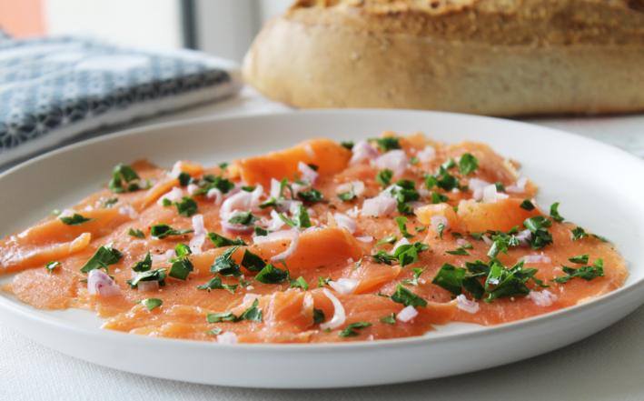 tartare de saumon fumé - Marcel Baey