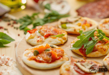 Mini-pizzas au saumon